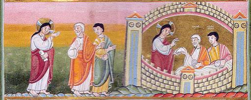 """""""Er kam ihnen nahe ..."""" - Der Codex aureus von Echternach (ca. 1030): EMMAUS"""