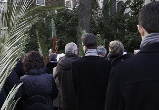 Palmsonntag mit Prozession in Sankt Maria in Lyskirchen (Anna C. Wagner)