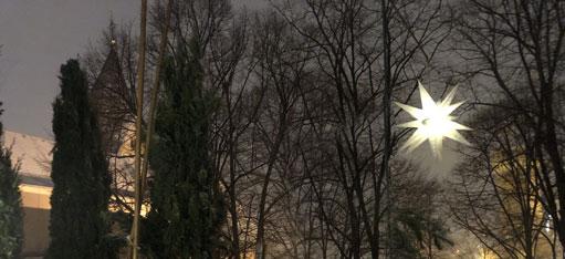 Für eine kurze Zeit War Sankt Maria in Lyskirchen in die weiße Pracht gehüllt. (Foto: Lyskirchen)