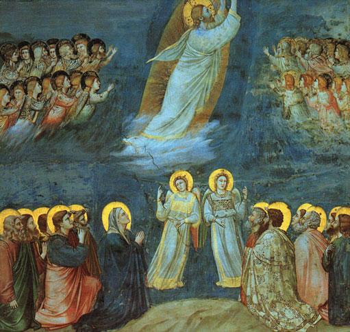 Giotto - Himmelfahrt in der Cappella degli Scrovegni, Padua