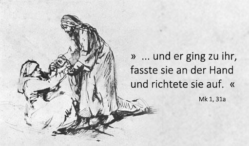 Rembrandt: Heilung der Schwiegermutter des Petrus, etwa 1650-1660