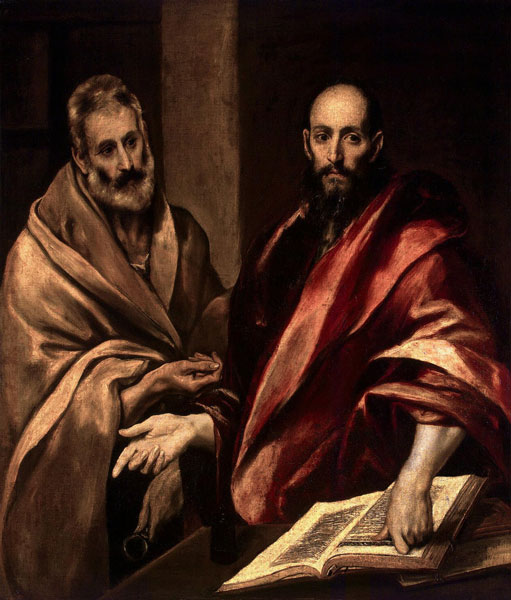 Die Apostel Petrus und Paulus von El Greco (1587/1592) in der Eremitage  von Sankt Petersburg