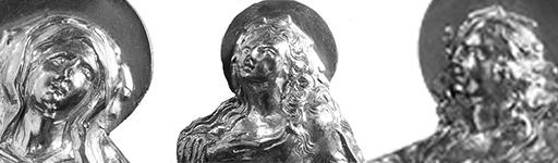 Maria, Maria Magdalena und Johannes, Figuren des Barock-Kreuz Lyskirchen