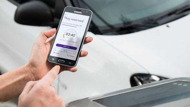 Gestione remoto ricarica auto elettrica con app.