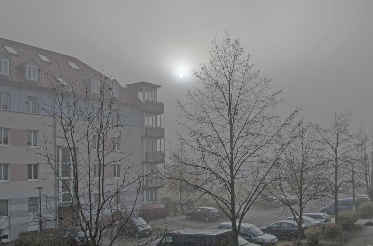 epische Nebel über Radeberg