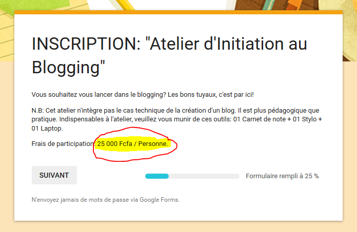 "Capture d'écran formation d'initiation au blogging offerte par ""les marches d'élodie"""
