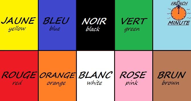 French Colours - Couleurs Francais