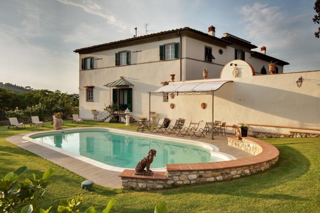 Golfreise Italien Golfpaket Golf Ferien Reisen Golfhotel Florenz  Toskana authentisch  edel Pisa Villa mit Pool hotel italienisch typisch