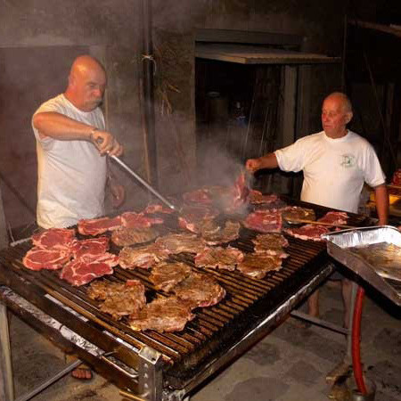 Grillen in der Toskana- Volkssport