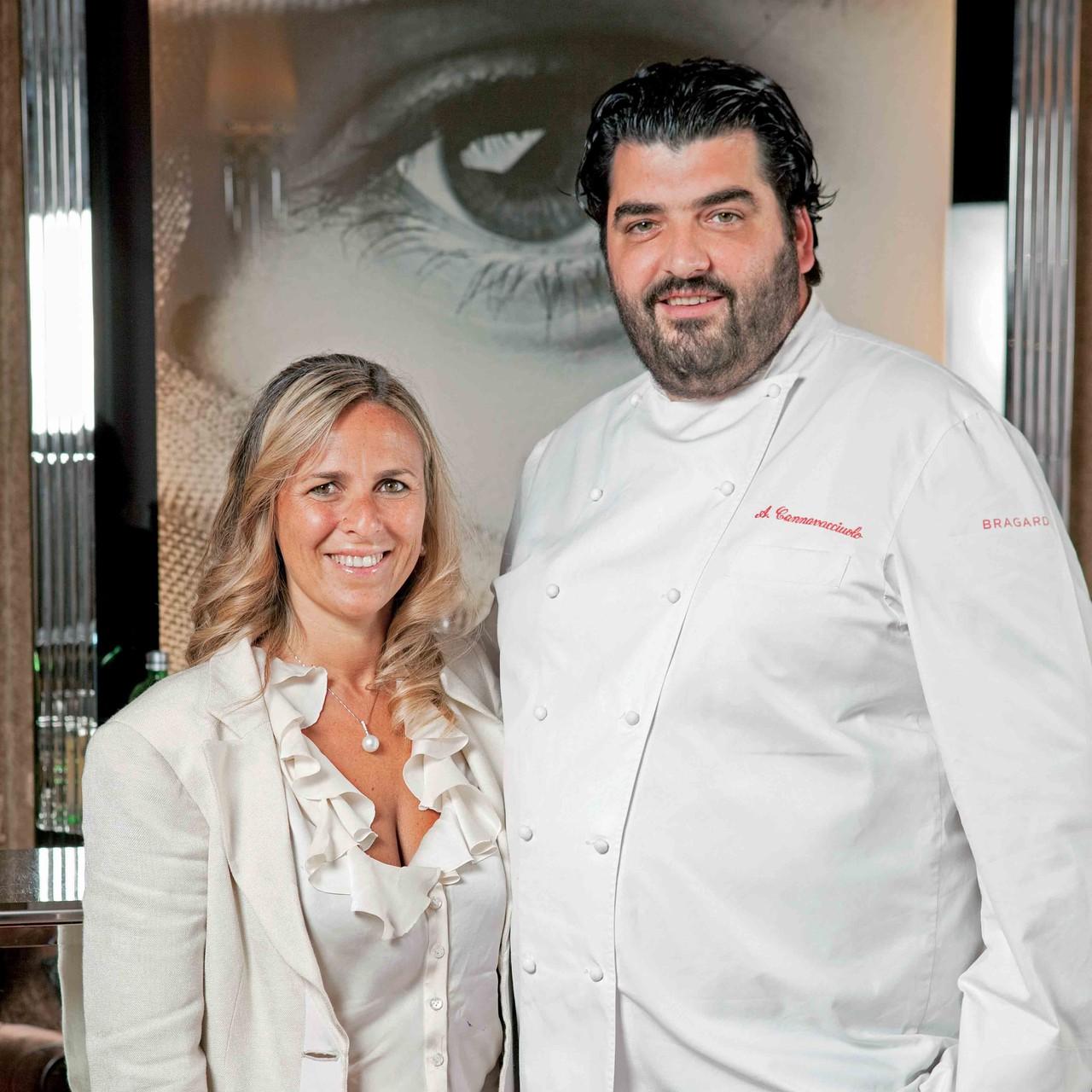 Starkoch Antonio Cannavacciuolo mit seiner Frau Cinzia