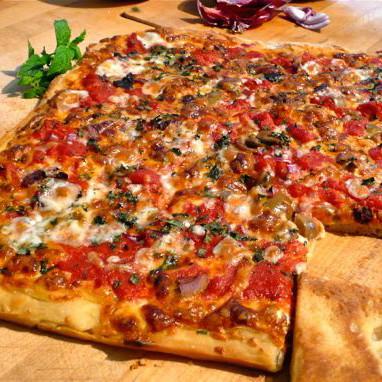 Lokale Pizza Spezialität aus der Ortschaft Sciacca