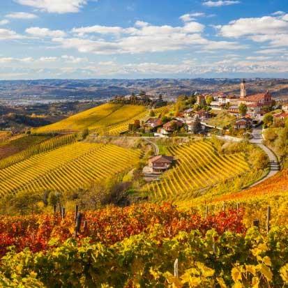 Malerische Weinregion Monferrato