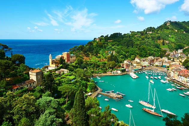 Ein Abstecher nach Portofino, eindrucksvolle Kulisse für einen Aperitif.