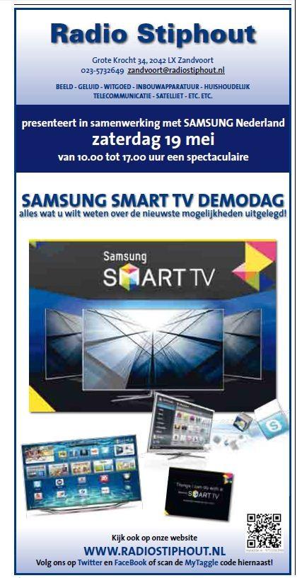 Smart TV demodag. (zandvoortse Courant 17 mei 2012)