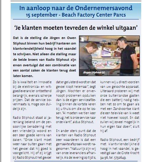 Radio Stiphout, meest creatieve ondernemer van 2011?!