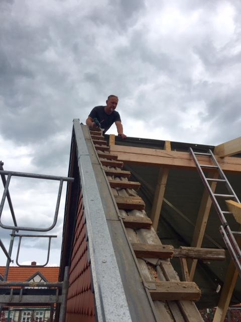 Dachstuhlaufbau