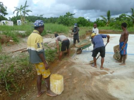 transporter de l'eau pour le ciment