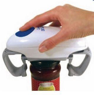 Ouvre bocal One Touch - Pour ouvrir le bocal sans effort, il suffit de placer l'ouvre bocal sur le couvercle et d'appuyer sur le bouton pour l'ôter. Automatique, il fonctionne avec piles.