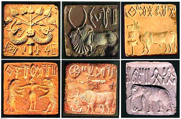 tablillas con lenguaje desconocido en Mohenjo Daro