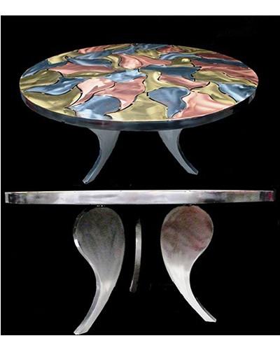 L'âme – Acier, laiton et cuivre vernis à chaud 77x100 cm (2006)