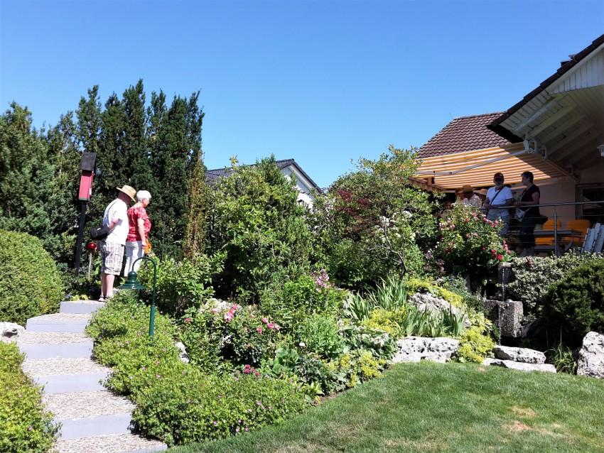 Der Hausgarten der Familie Künzelmann.  © Karin Kleinlein