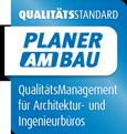 Logo Planer am Bau Zertifikat für Ingenieurbüros