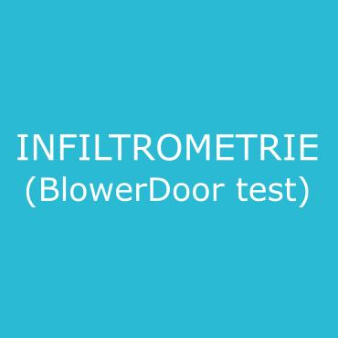 infiltrométrie à l'air (test BlowerDoor)