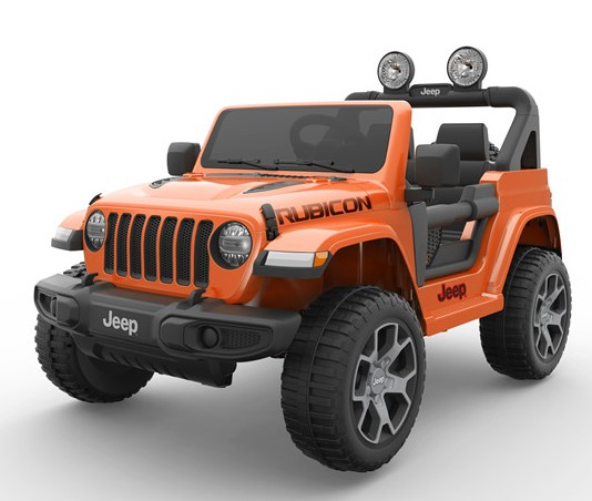 Jeep Wrangler Rubicon/Allrad/Kinderauto/ Kinder Elektroauto/lizensiert/2 Sitzer/orange lackiert/