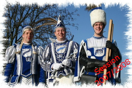 Erstes Dreigestirn der Prinzenwache 2008