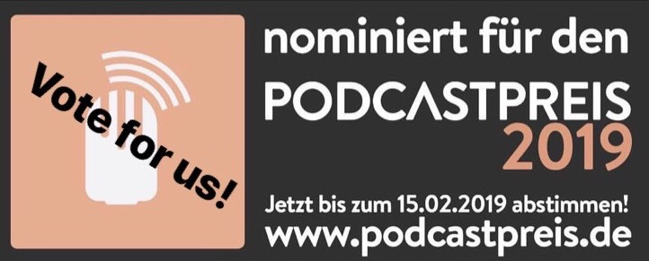 Podcastpreis 2019, Männerquatsch Podcast, Abstimmen, Technik