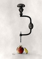 humor tool apple tears creation conceptual surrealism