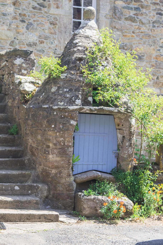 Aktuelle Ortsansicht in Gruchy, Cotentin, Normandie.