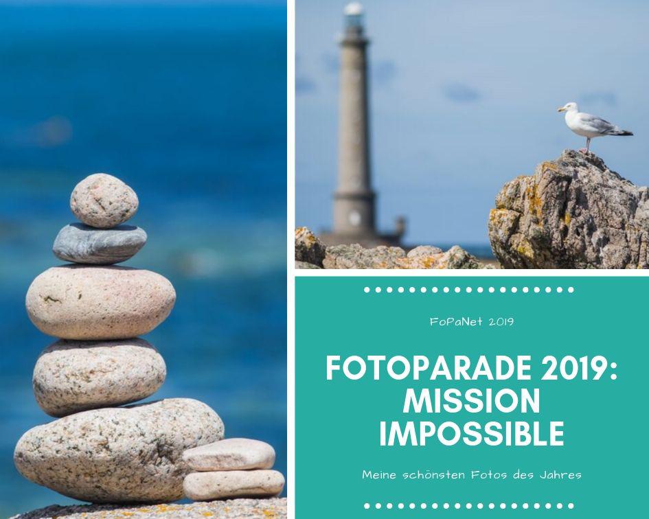 Eine Fotocollage aus zwei Normandie-Fotos für die Fotoparade 2019