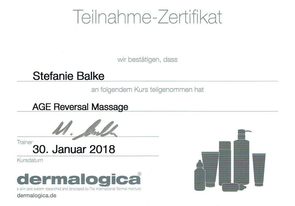 Fortbildung Dermalogica AGE Reversal Massage