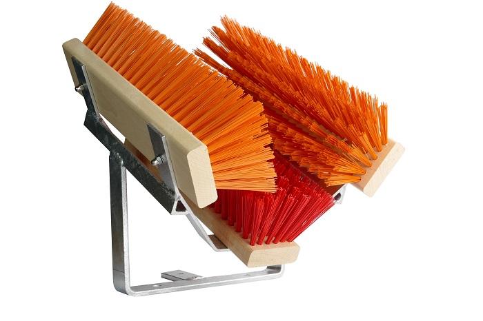 Fußabtreter   Fußabstreifer Premium   Schuhreiniger   Stiefelreiniger   Bürsten rot orange
