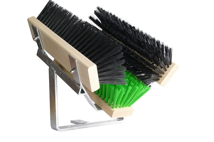 Fußabtreter | Fußabstreifer Premium | Schuhreiniger | Stiefelreiniger | Bürsten grün schwarz