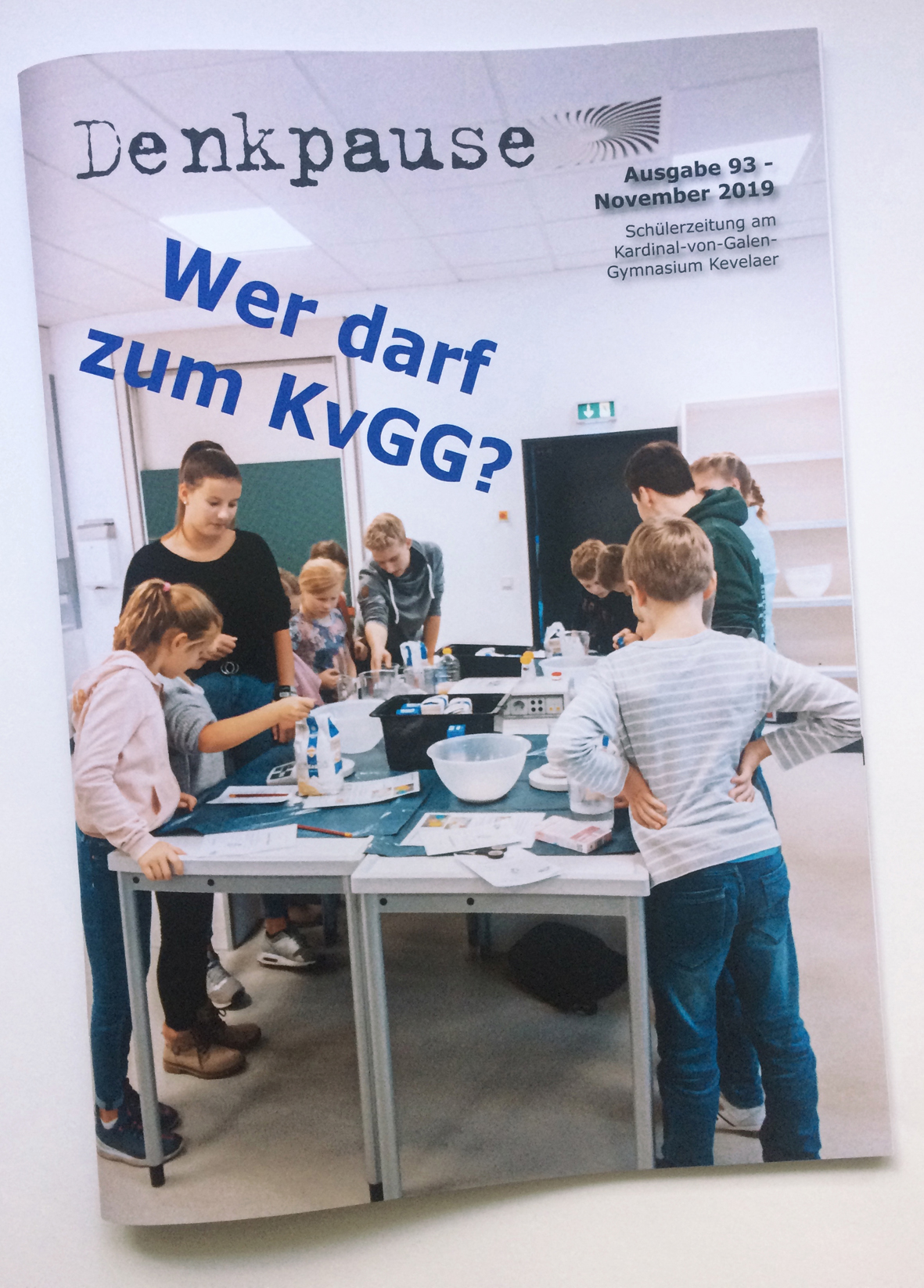 Mit der Denkpause Nr. 93 beteiligte sich die Redaktion am 39. Wettbewerb der Schülerzeitungen im Rheinland