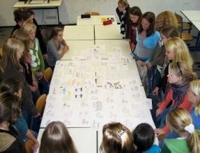 Schüler der Kunst-AG im Kunstraum