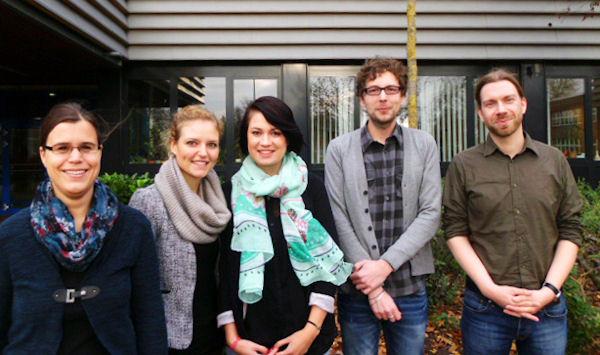 Von links nach rechts: Anita Stender (M/PH), Carolin van den Kerkhoff (EK/NL), Eva Cepok (D/SW), Florian Look (E/GE), Christian Kohler (D/GE)