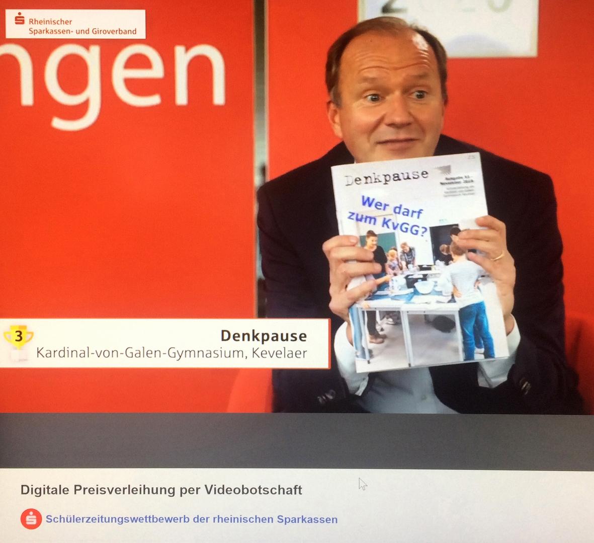 Michael Breuer, dem Präsidenten des rheinischen Sparkassen- und Giroverbandes