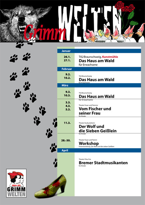 9 freie Theatergruppen aus der Theaterszene Braunschweigs die zum Grimmjahr 2012 Geschichten erzählen