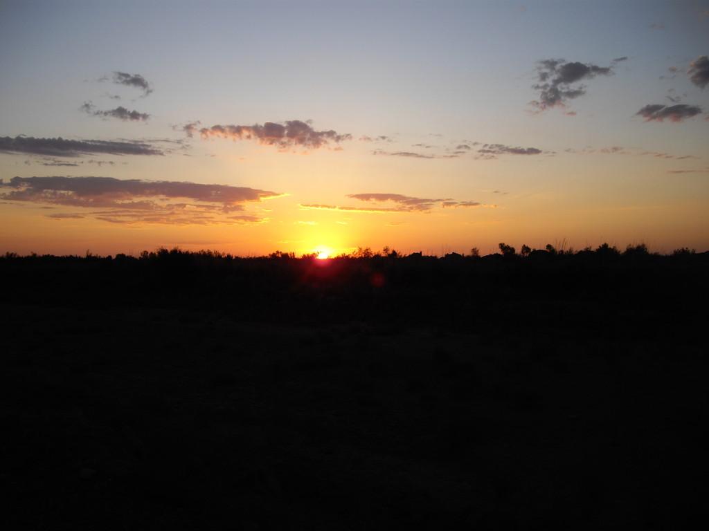 mein erster Sonnenaufgang in Uzbekistan
