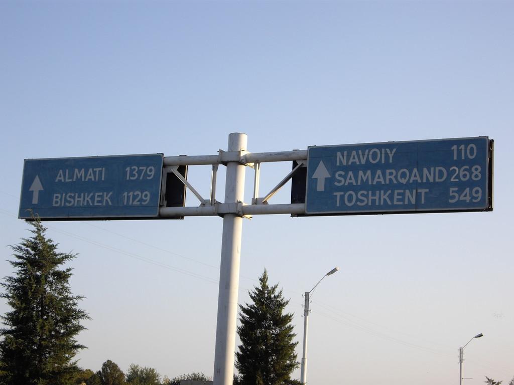 nun wissen wir, wie weit es bis Samarkand ist - in 3 Tagen wollen wir dort sein