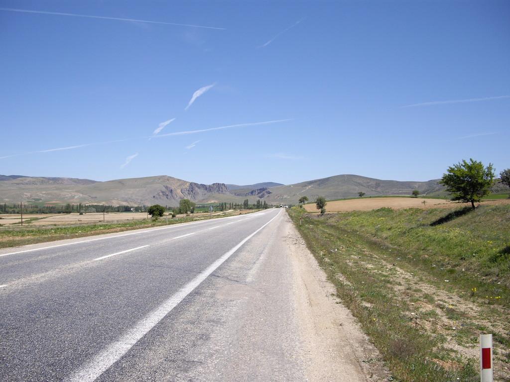 Blick nach vorne Richtung Afyon