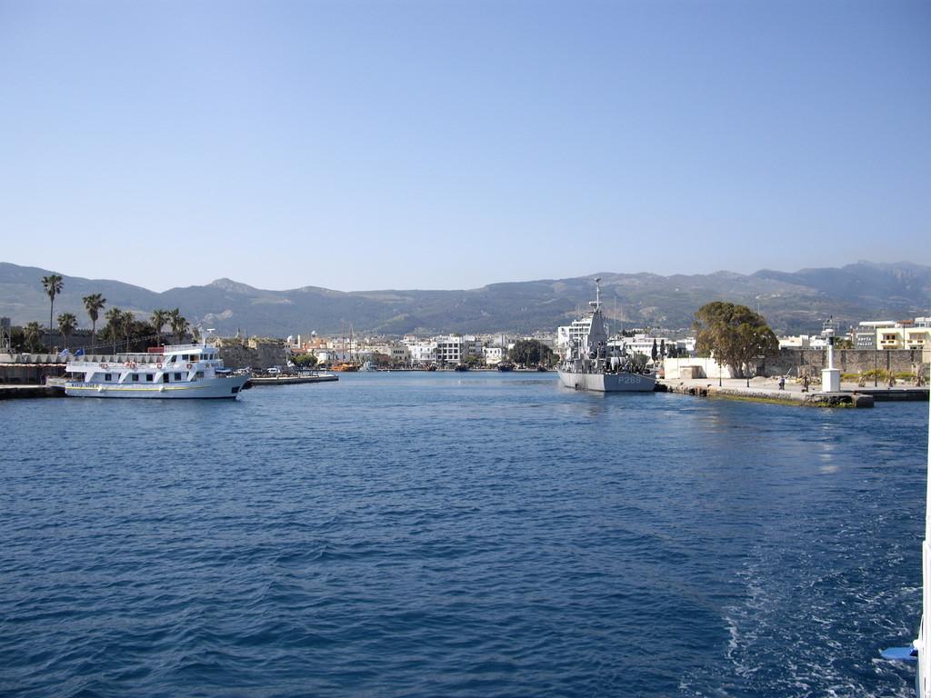 Wir verlassen den Hafen von Kos