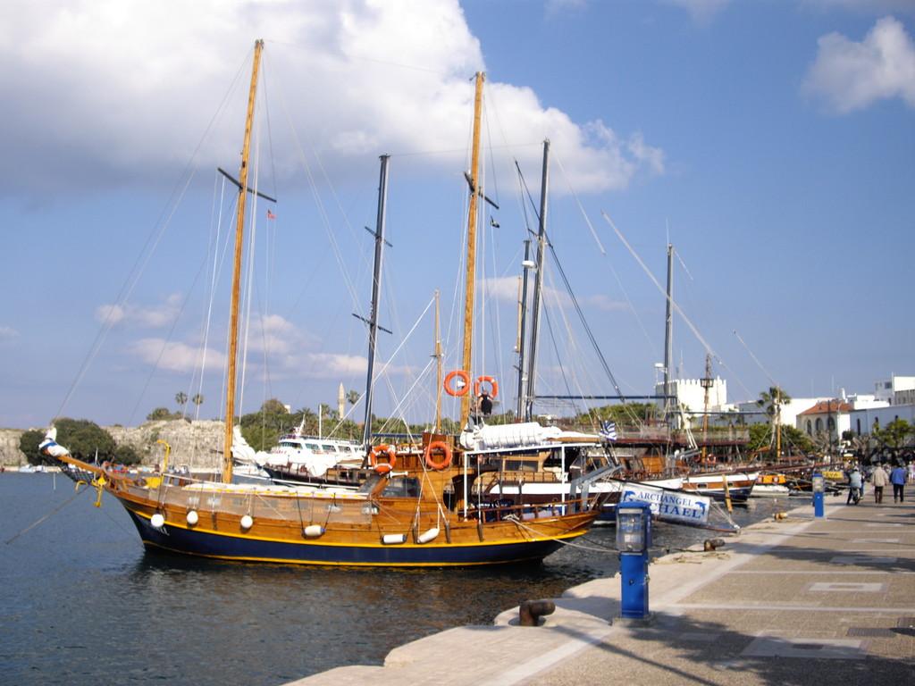 Im alten Hafen von Kos Stadt