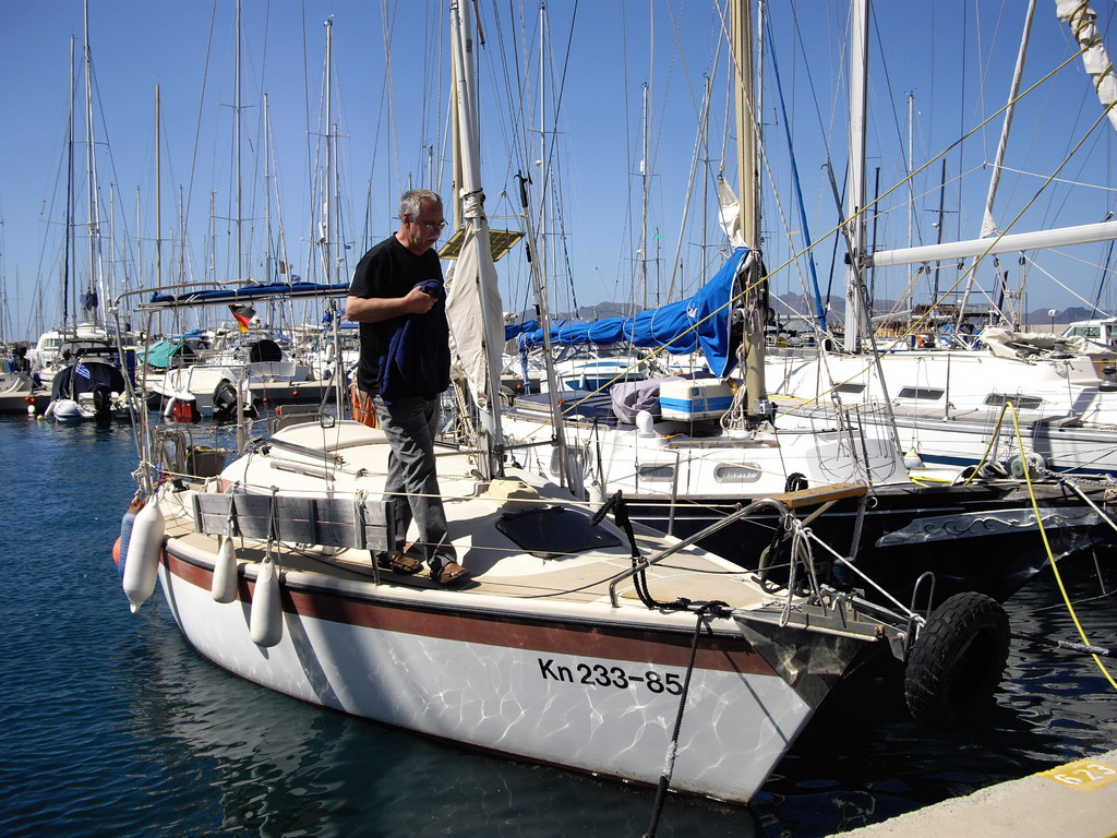 Jürgen aus Köln und sein Segelboot