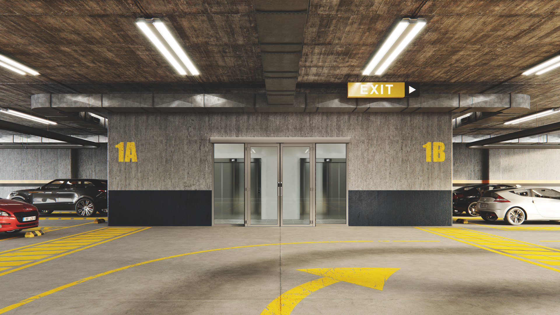 Doorson 500EFS Brandschutzschiebetür mit Fluchweg (ohne Panikbeschlag)- Garage