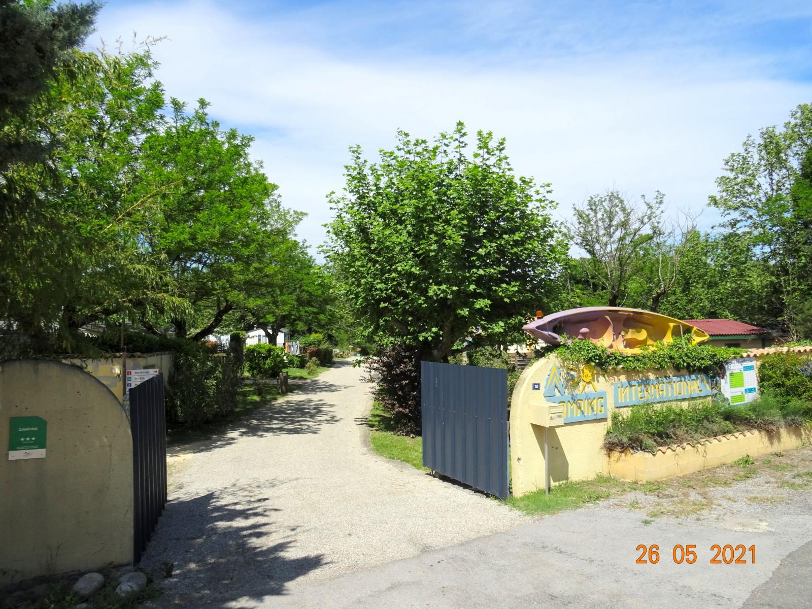 Eingang zum Campingplatz