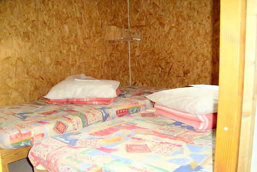 Bedden in chalet